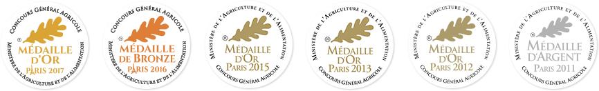 Médailles du Concours général agricole